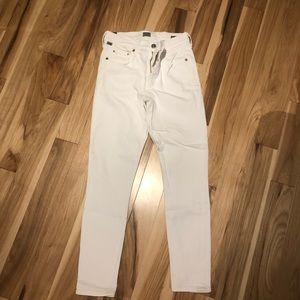 Citizens of humanity white high rise skinny jeans